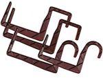 Držák Univerzál na hranu 12 cm  - hnědý