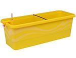 Samozavlažovací truhlík Gardenie 40 cm - žlutá