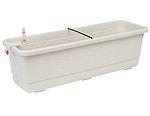 Samozavlažovací truhlík Fantazie 60 cm - bílá