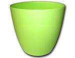 Dekorativní květináč Ella 13 cm - matná hráškově zelená