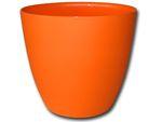 Dekorativní květináč Ella 15 cm - matná oranžová