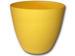 Dekorativní květináč Ella 18 cm - matná žlutá