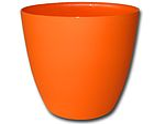 Dekorativní květináč Ella 18 cm - matná oranžová