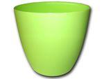 Dekorativní květináč Ella 21 cm - matná hráškově zelená