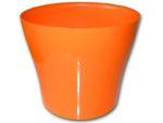 Dekorativní květináč Tulipán 13 cm - oranžová