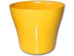 Dekorativní květináč Tulipán 17 cm  - žlutá