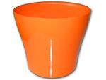 Dekorativní květináč Tulipán 24 cm - oranžová